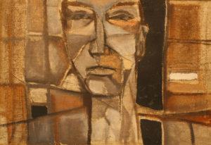 """""""Carpentiere"""", Roberto Pamio, olio su tela, 65x45 cm"""