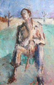 """""""Il Riposo"""", Roberto Pamio, olio su tela, 51 x 32 cm"""