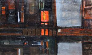 """""""Marghera"""", Roberto Pamio, olio su tela, 100 x 60 cm"""