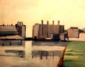 """Marghera Industriale"", Roberto Pamio, olio su tela, 60 x 45 cm"