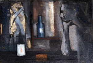 """Riflessioni"", Roberto Pamio, olio su tela, 65 x 45 cm"