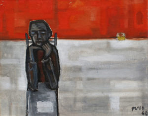 """Solitudine"", Roberto Pamio, olio su tela, 50 x 45 cm"