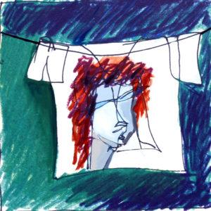 """T-Shirt"", Roberto Pamio, acrilico su tela, 100 x 100 cm"