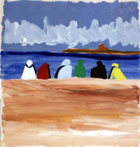 """""""Agadir"""", Roberto Pamio, acrilico su tela, 100 x 100 cm"""