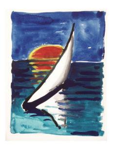 """Barchetta"", Roberto Pamio, 90 x 120 cm"