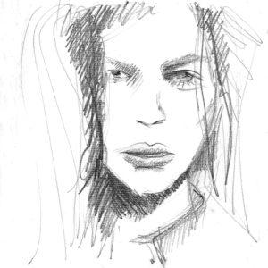"""""""Catherin"""", Roberto Pamio, 90 x 90 cm"""