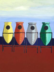 """""""Garbages"""", Roberto Pamio, acrilico su tela, 120 x 90 cm"""