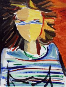"""""""Laura"""", Roberto Pamio, acrilico su carta, 60 x 45 cm"""