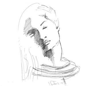 """Linda"", Roberto Pamio, 90 x 90 cm"