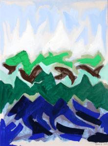 """Paesaggio"", Roberto Pamio, acrilico su tela, 120 x 90 cm"