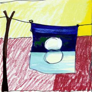 """""""Paesaggio al sole"""", Roberto Pamio, acrilico su tela, 100 x 100 cm"""