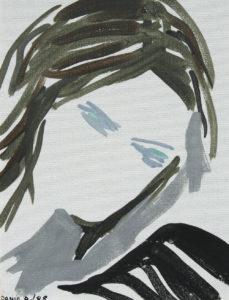 """Rossana"", Roberto Pamio, acrilico su tela, 30 x 22 cm"