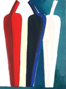 """Vasi"", Roberto Pamio, acrilico su tela, 120 x 90 cm"