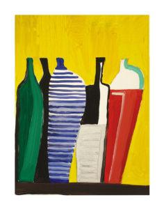 """Vasi"", Roberto Pamio, acrilico su tela, 90 x 120 cm"