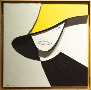 """Donna Chic"", Roberto Pamio, 70 x 70 cm"