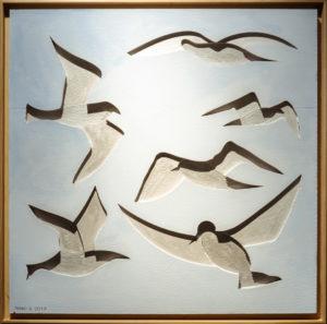 """""""Volo"""", Roberto Pamio, 100 x 100 cm"""